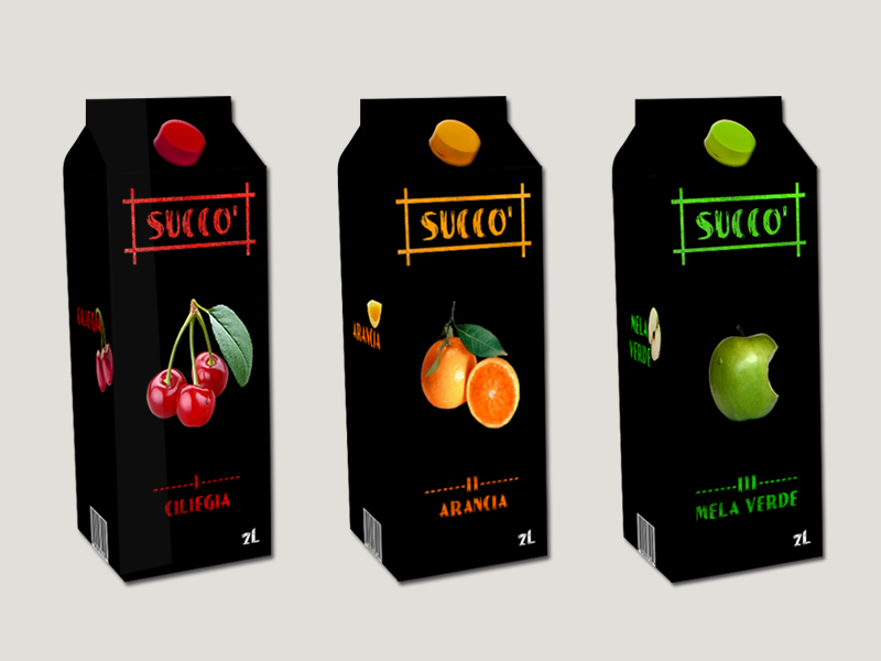 Packaging succo di frutta