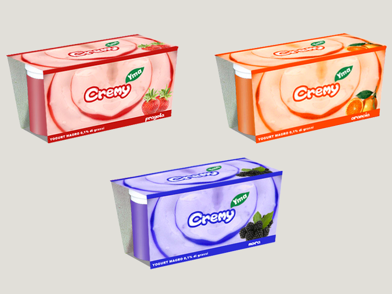 Packaging yogurt